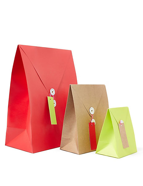 Envelope Style Christmas Gift Bags Pack of 3