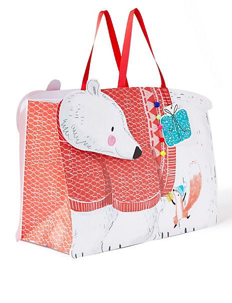 Extra-Large Polar Bear Christmas Gift Bag