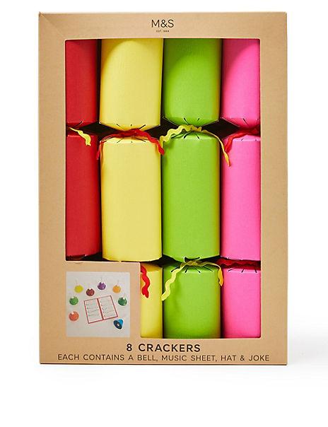 Musical Fun Christmas Crackers - 8 Pack