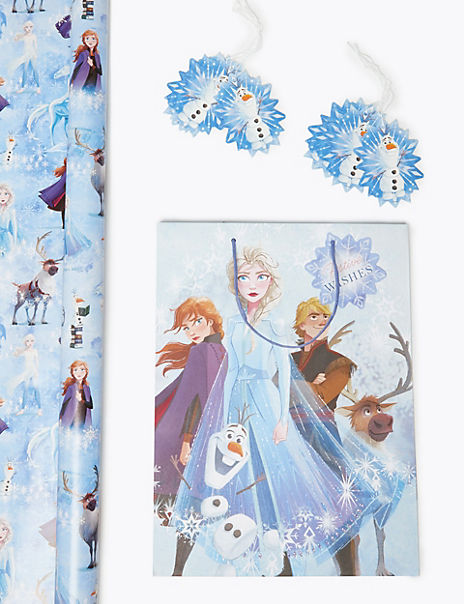 Disney Frozen 2 Christmas Wrapping Paper, Gift Bag & Tags Collection