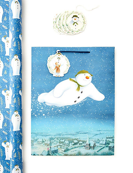 The Snowman™ Christmas Wrapping Paper, Gift Bag & Tags Collection