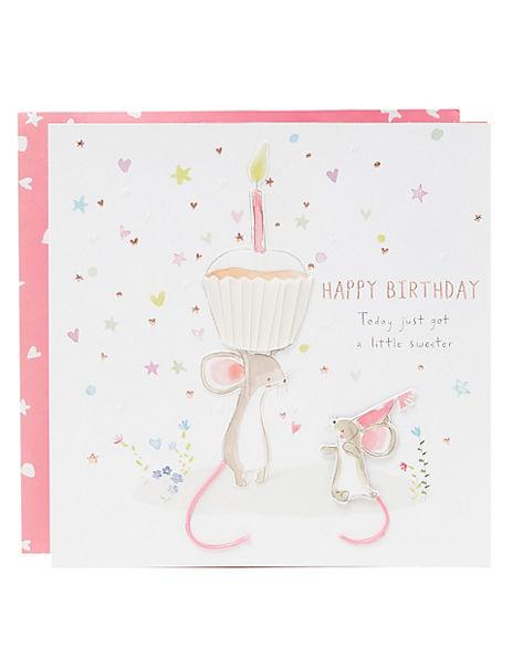 Cute 3D Birthday Card