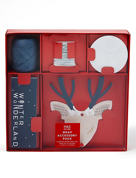 Luxury Silver & Blue Christmas Accessory Pack- 17 Pieces