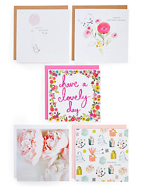 Birthday cards happy birthday greeting cards ms pack of 5 birthday cards m4hsunfo