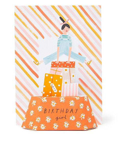 3D Pop-up Birthday Girl Card