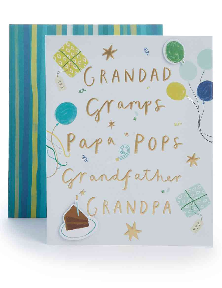 Grandad Gramps Grandfather Birthday Card M S