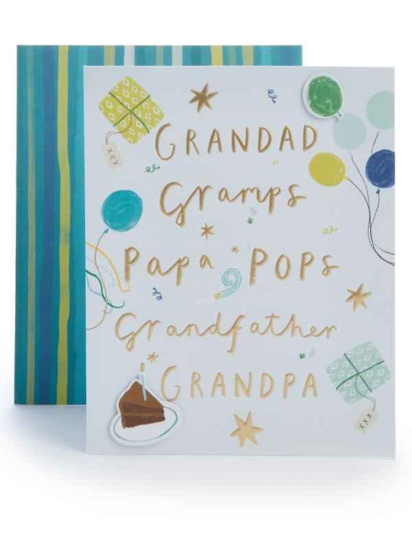 Grandad Gramps Grandfather Birthday Card