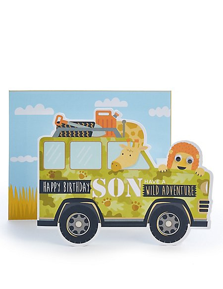 Son Safari Birthday Card