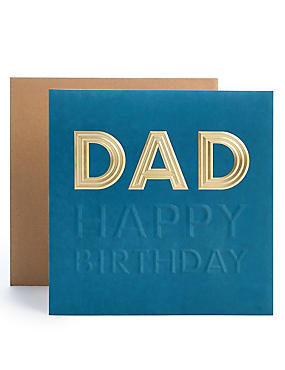 Birthday cards happy birthday greeting cards ms dad embossed birthday card m4hsunfo