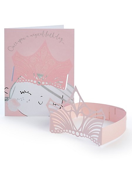 Princess Crown Birthday Card