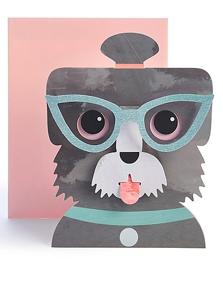 Dog in Glasses Birthday Card