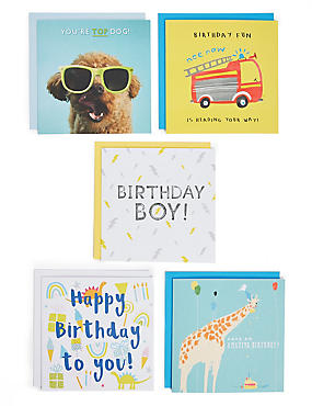 Birthday cards happy birthday greeting cards ms pack of 5 birthday cards m4hsunfo