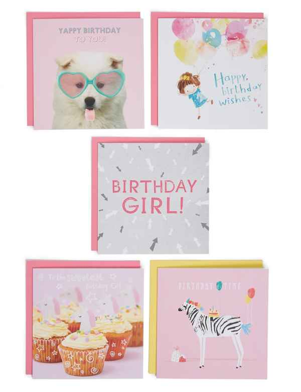 Pack Of 5 Birthday Cards