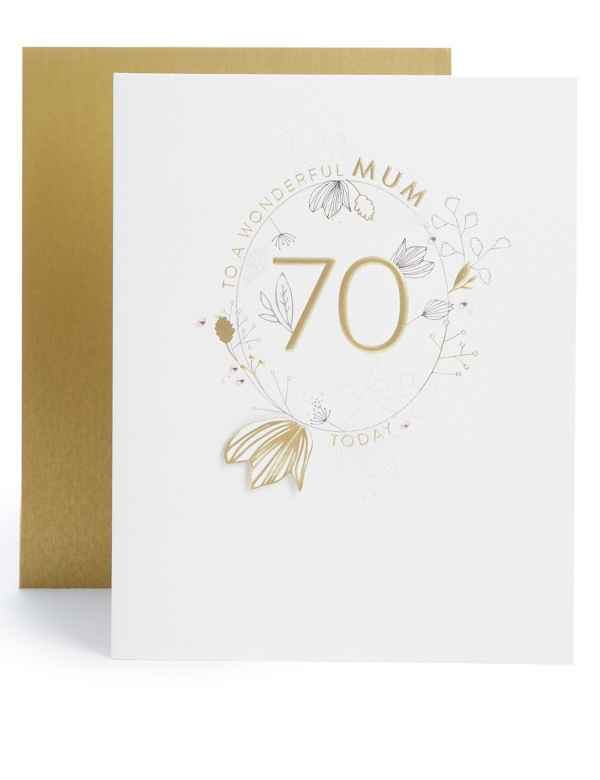 Mum 70th Birthday Card