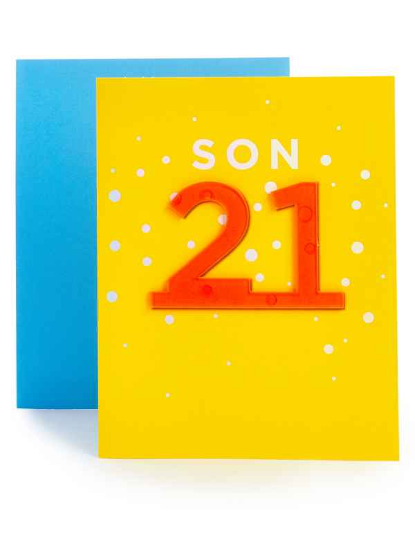 Son 21st Birthday Card