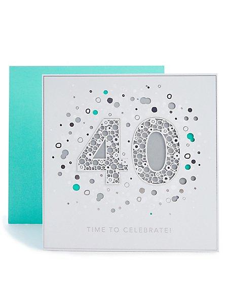 40th Birthday Card Ms