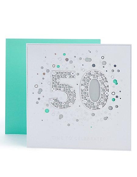 50th Birthday Card Ms