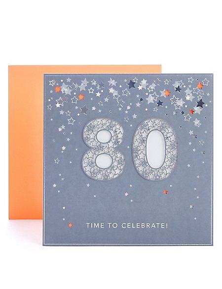80th Birthday Card Ms