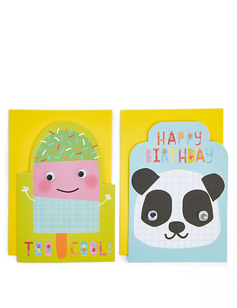 Pack of 8 Cute Characters Birthday Cards