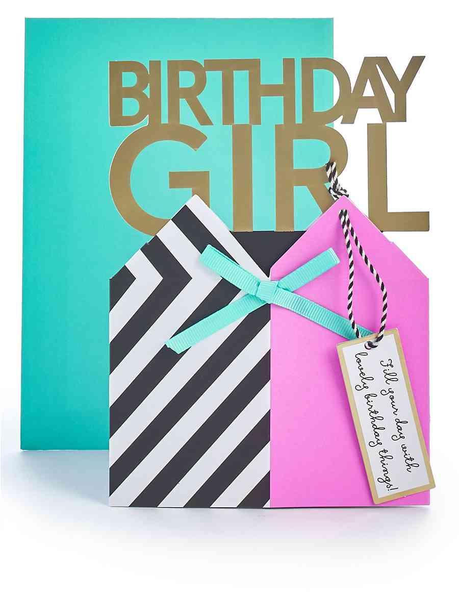 Pop Up Birthday Girl Card