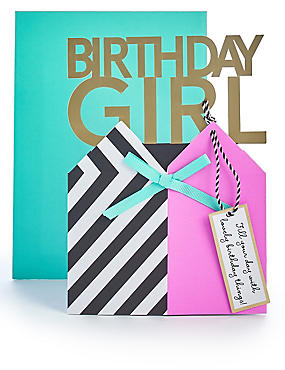 Pop Up Birthday Girl Card