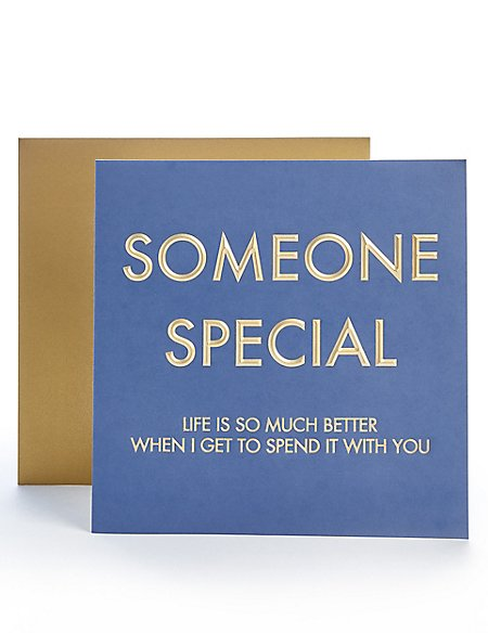 Someone Special Birthday Card Ms