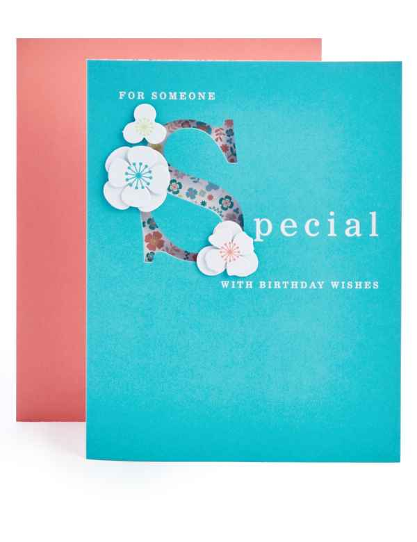 Someone Special Floral Birthday Card