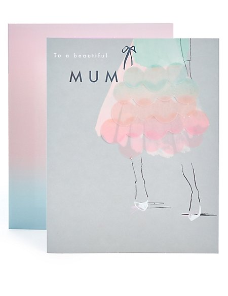 Mum Ombre Dress Birthday Card