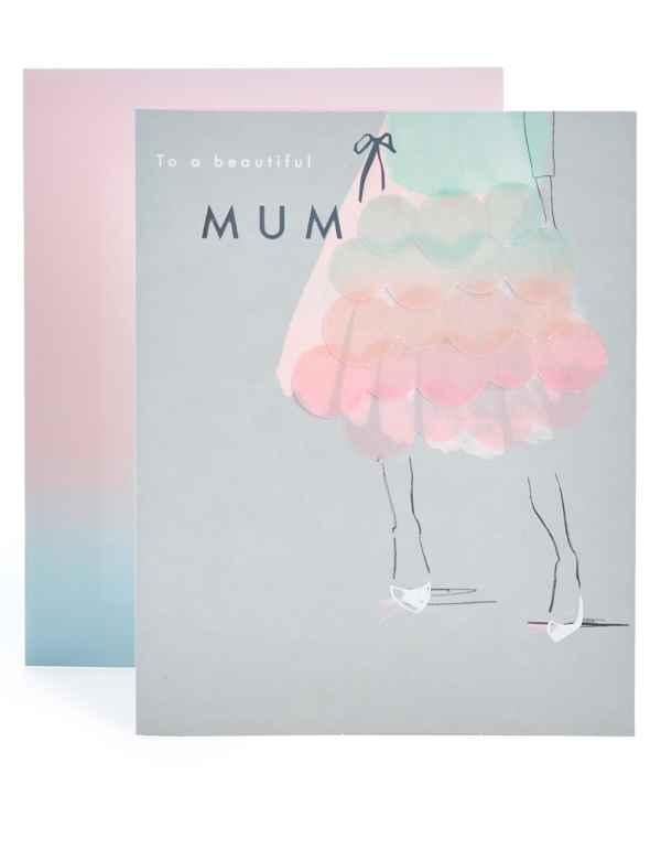 Mum Ombre Dress Birthday Card