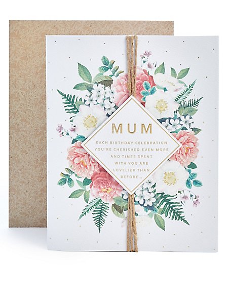 Mum Floral Birthday Card