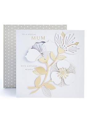 Mum Fold-Out Flower Birthday Card