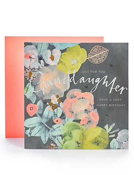 Granddaughter Floral Birthday Card