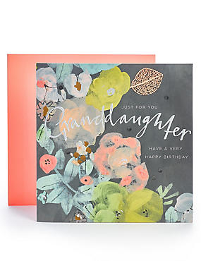 Granddaughter Floral Birthday Card