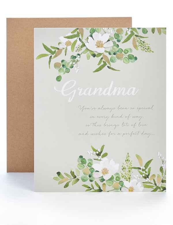 Grandma Floral Birthday Card