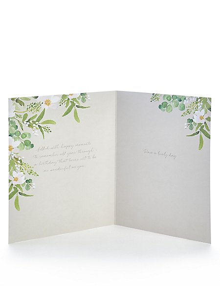 Grandma Floral Birthday Card Ms