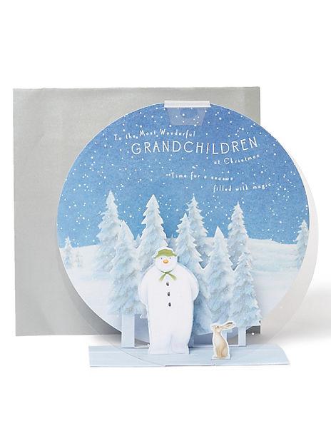 3D Snowman™ Christmas Charity Card for The Grandchildren