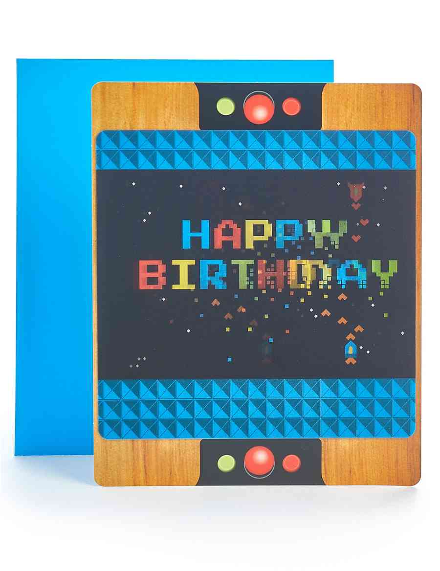 Pop Up Lenticular Arcade Game Birthday Card