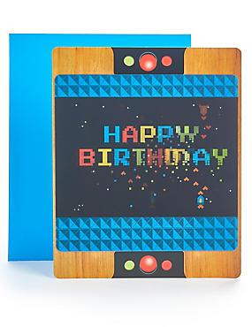 Pop-up Lenticular Arcade Game Birthday Card