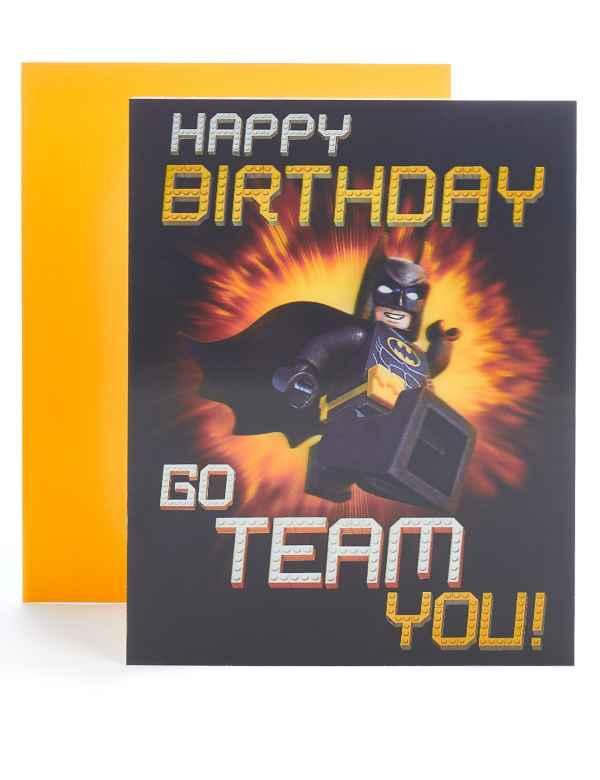 Lego BatmanTM Lenticular Birthday Card