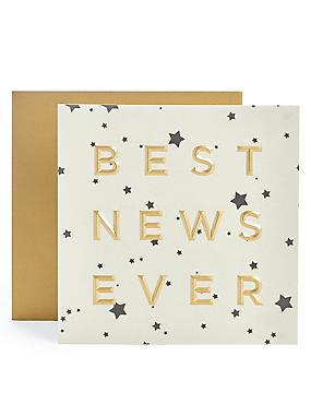 Best News Ever Congratulations Card