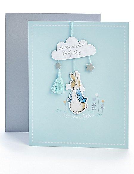 Peter Rabbit™ New Baby Boy Card