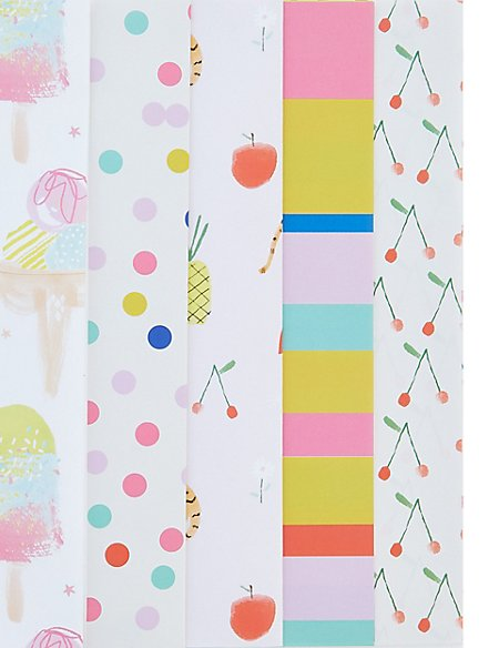Pack of 10 Sheets of Gift Wrap & Tags