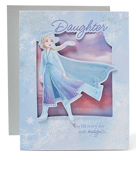 Disney Frozen 2 Charity Christmas Card for Daughter