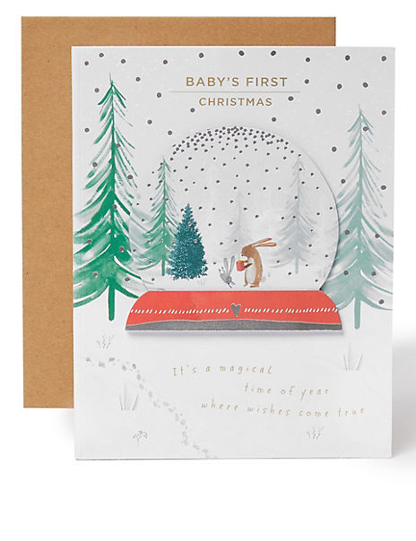 3D Christmas Charity Card for Baby's First Christmas