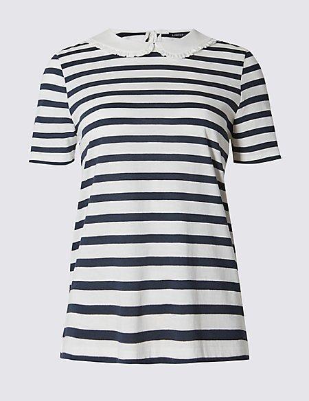 Modal Blend Striped T-Shirt