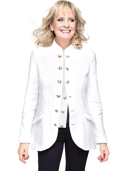 Twiggy for M&S Woman Pure Linen Military Jacket