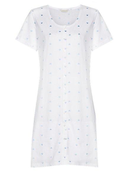La Maison De Senteurs Pure Cotton Embroidered Minishirt with Cool Comfort™ Technology