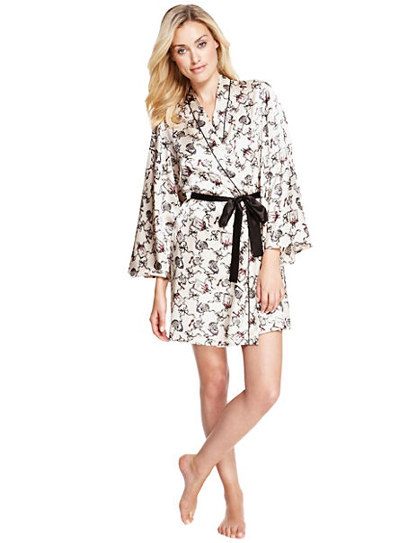 Bow Satin Dressing Gown
