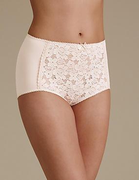 Cotton Blend Front Lace Full Briefs