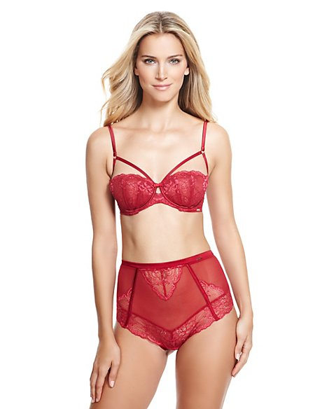 Floral Lace Non-Padded Balcony A-DD Bra